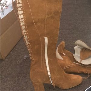 Zara Suede... Back lacing over the Knee Boots